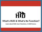 What's HUD and What's It's Function Presentation_Redo