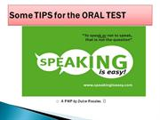 ORAL TEST TIPS