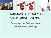 PHARMACOTHERAPY OF BRONCHIAL ASTHMA (2011) - drdhriti