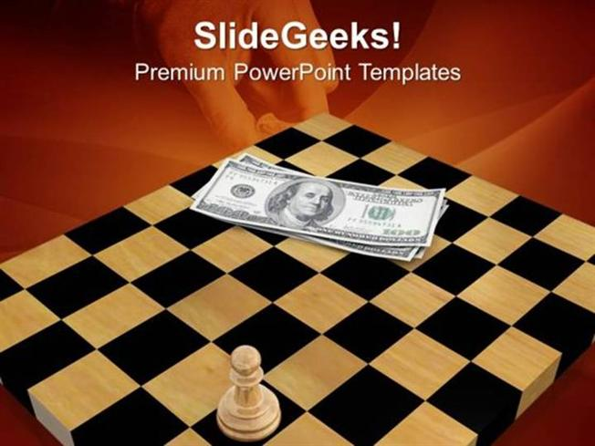 strategy 3d man with chess board ppt template powerpoint template