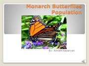 Monarch butterfly population