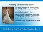 one wedding day - wedding dress and gown