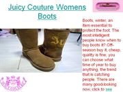 Juicy Couture Womens Boots