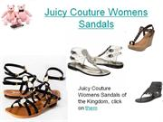 Juicy Couture Womens Sandals