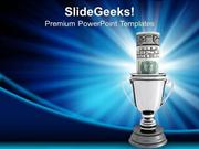 SPORTS SILVER CUP OF THE WINNER COMPETITION PPT TEMPLATE