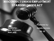 misconduct uner employment standing
