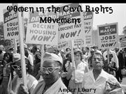 Women and the Civil Rights Movement