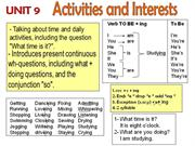 tn unit 9 L1U4 Activities - What are you doing