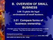 intro to business - overview of business types