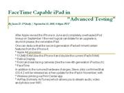 facetime capable ipad in