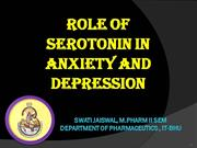 role of serotonin in anxiety and depression