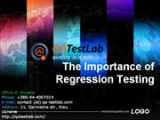 the importance of regression testing
