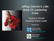 Jeffrey Gitomer Little Book Of Leadership Extra Web Cast