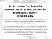 Tax Accountant San Ramon CA Becomes One of the Top CPA Firms for Local