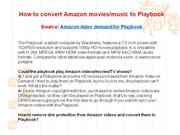 How to download Amazon videos to Playbook