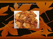 potato chips whit chicken and thyme