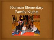 Reed City G.T. Norman Elementary Family Nights