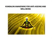 Antiageing and wellbeing