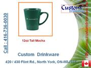 custom drinkware, tall mocha, handle mug, soup mug