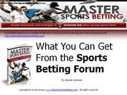 What You Can Get From the Sports Betting Forum