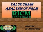 VALUE CHAIN ANALYSIS of PGDM RICM