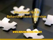 effective in behavioral event interview