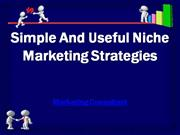 simple and useful niche marketing strategies