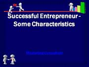 successful entrepreneur - some characteristics