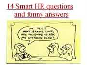 14 smart HR questions and funny answers