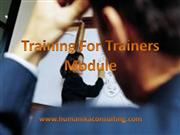training for trainer