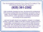 Tax Accountant Livermore CA: (925) 361-2382