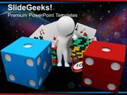SPORTS BLUE AND RED DICE GAME PPT TEMPLATE