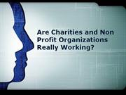 are charities and non profit organizations really working ?