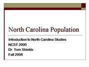 North Carolina Population