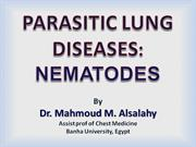 nematode infestations of the lungs