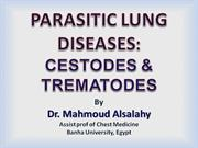 cestodes and trematodes infestation of the lung