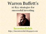 warren buffett strategies for successful investing