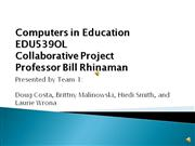 Computers in Education Collaborative Project