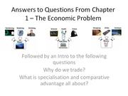 Answers to Questions From Chapter 1 – The