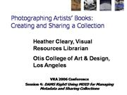 Photographing Artists Books