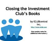 Closing the Investment Club Book
