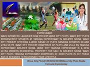 wave city plots{@8860623208}wave city plots noida yamuna expressway