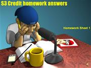S3 Credit homework sheet 1 answers