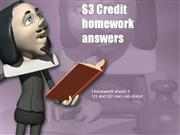 S3 Credit homework sheet 4 answers