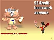 S3 Credit homework sheet 5 answers
