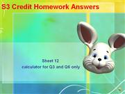 S3 Credit homework sheet 12 answers
