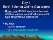 Online Tools and Classroom