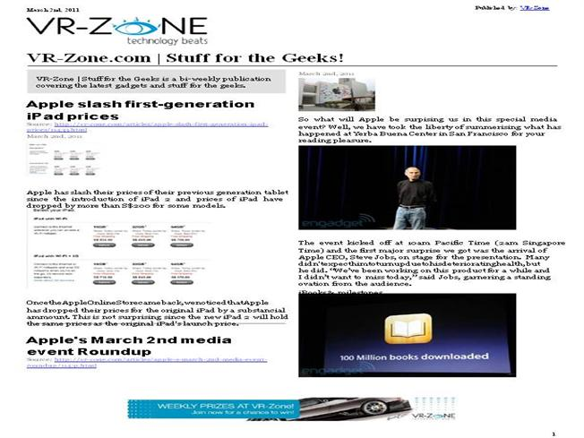 VR-Zone Technology News | Stuff for the Geeks! Mar 2011