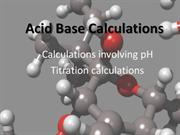 Dressen-Acid Base Calculations