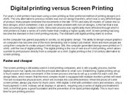 Digital printing versus Screen Printing